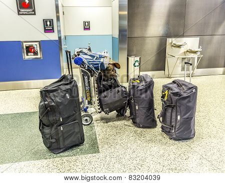 Baggage At Miami International Airport