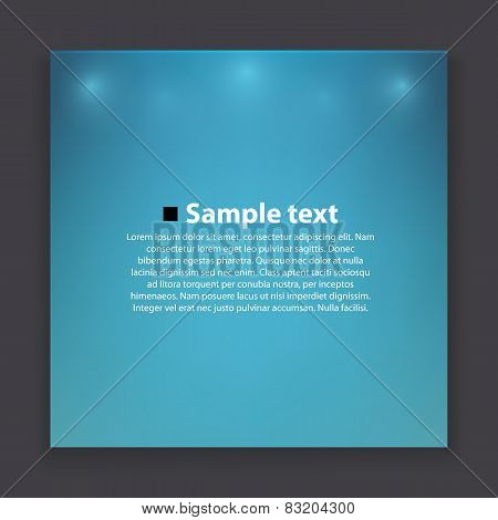 Blue rectangle banner with reflections