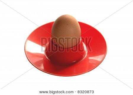Hens Egg in a Red Egg Cup