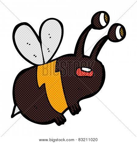 retro comic book style cartoon frightened bee