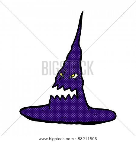 retro comic book style cartoon spooky witches hat