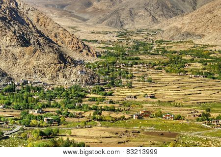 Aerial View Of Ladakh Landscape