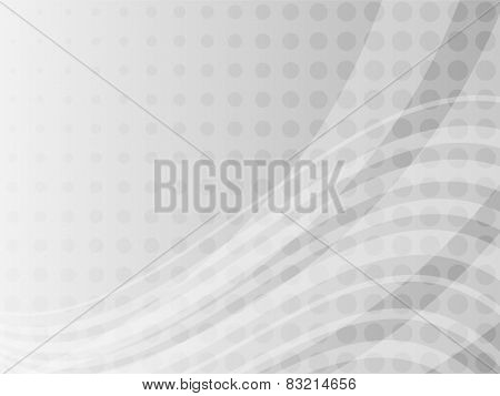 Abstract  grayscale dots and curves background.