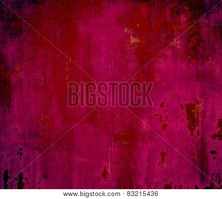Aged grunge texture. With different color patterns: red (orange); purple (violet); pink; black