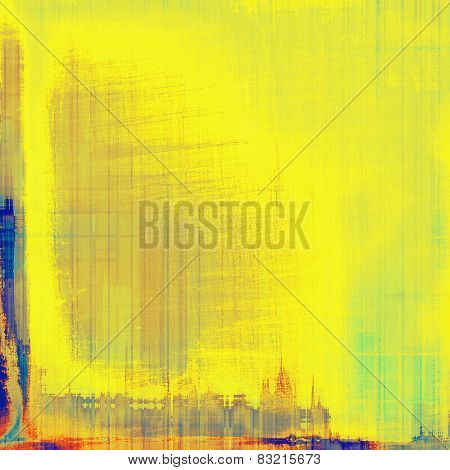 Grunge old texture as abstract background. With different color patterns: yellow (beige); blue; red (orange)