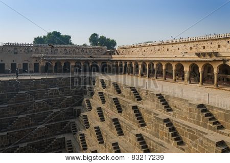 Chand Baori Stepwell In The Village Of Abhaneri, Jaipur