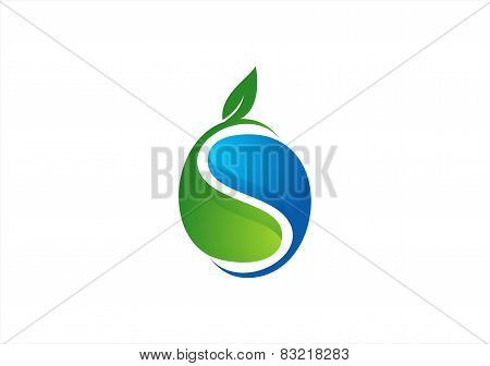 plant,water,circle ecology logo,water drop plant symbol,nature leaf icon