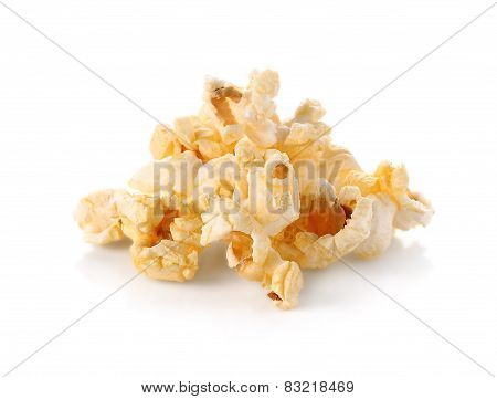 Buttered Popcorn Isolated On White Background