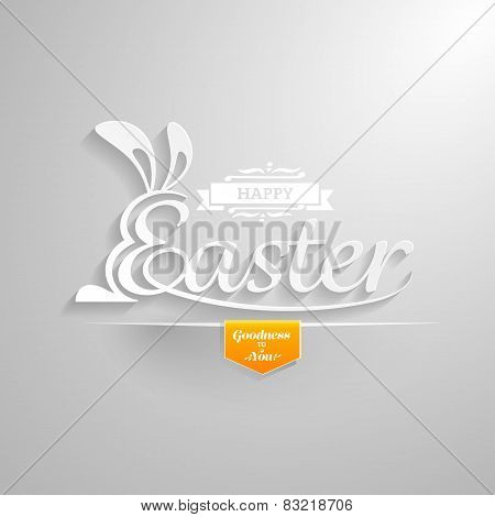 Happy Easter Greeting Card.hand Lettering.vector Illustration