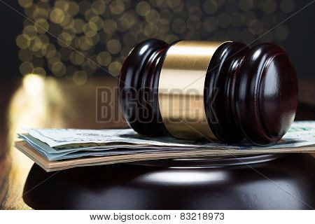 Gavel And Banknote
