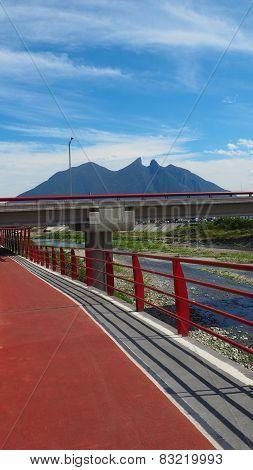 Monterrey Mexico iconic Cerro de la Silla Mountain