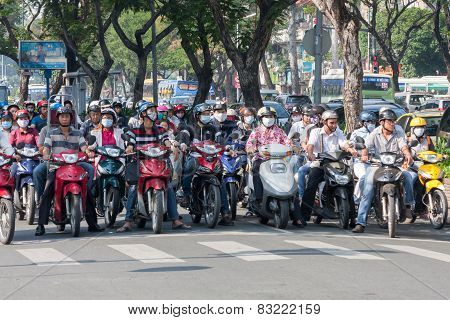 Motorcyclists Waiting