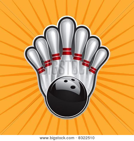 Bowling Ball Design Element Set 2.eps