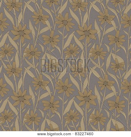 Graceful Vintage Seamless Floral Pattern
