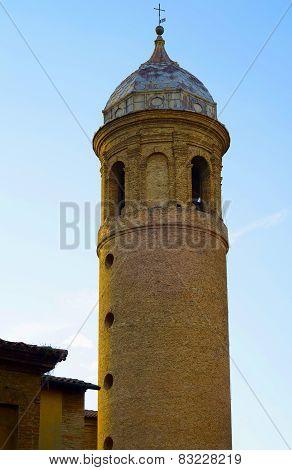Italy Ravenna town Saint Vitale Basilica on the sky