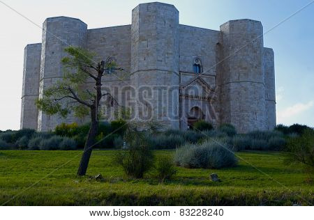 Castel del Monte Unesco heritage in the south of Italy Apulia