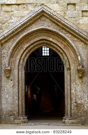 internal portal Castel del Monte Unesco heritage.