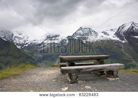 Mountain landscape in Hohe Tauern National Park, Austria, Europe