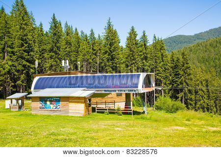Chairlift Shiligarnik  in Bansko, Bulgaria summer time