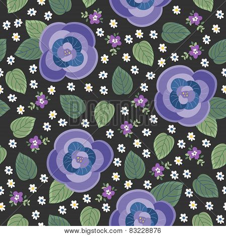 Lovely Pansy Seamless Pattern