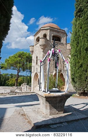 Decorated Well At Ialyssos Church