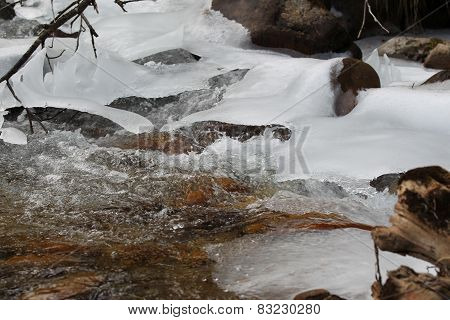 Scenic Views Of The Mountain Stream