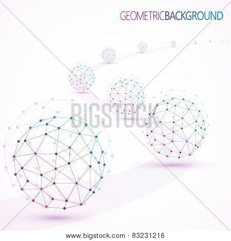 Geometric lattice, the molecules in the circle