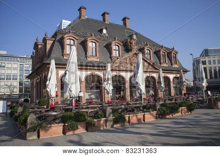 old cafe house in Frankfurt city, Germany