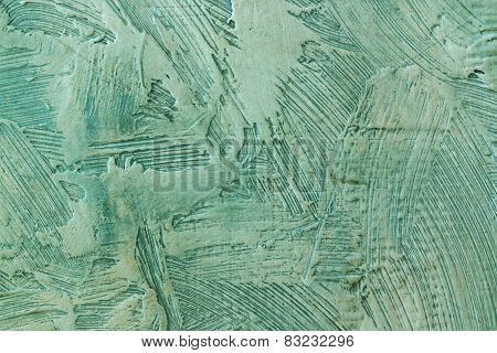 surface with colored plaster