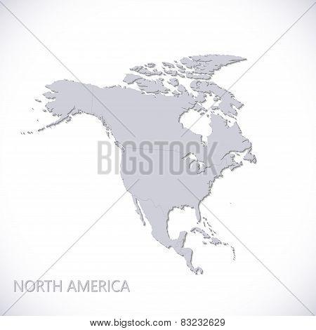 North America Map. Vector illustration