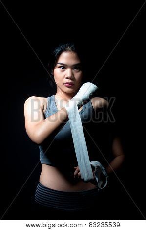 Asian Female Boxer