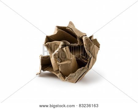 Crushed Cardboard Box