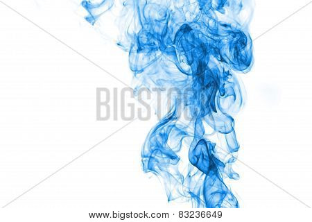 Light Blue Smoke On White Background