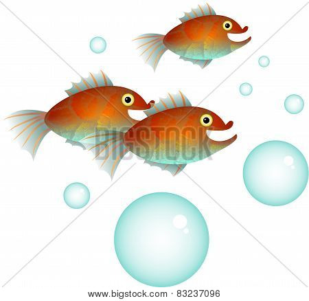 Cartoon Fish Shoal
