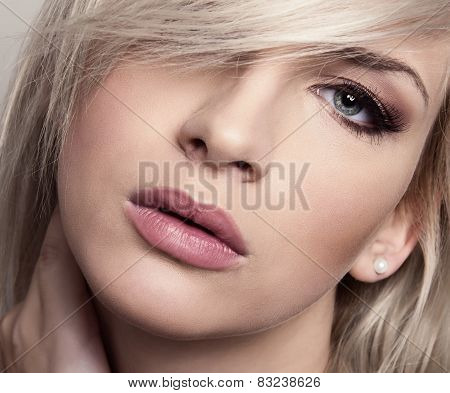 Beautiful young blonde woman