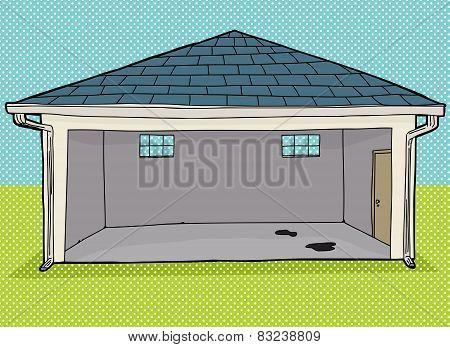 Empty Garage With Windows