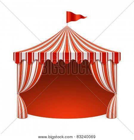 Circus tent, poster background. Vector.