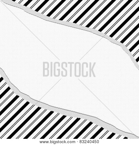 Black And White Striped Torn Background