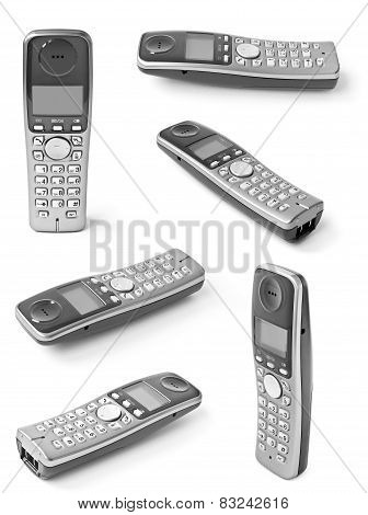 Collection Of Digital Cordless Answering System Isolated