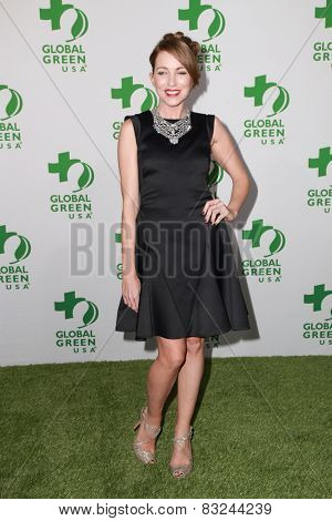 LOS ANGELES - FEB 18:  Sanny Van Heteren at the Global Green USA's 12th Annual Pre-Oscar Party at a Avalon on February 18, 2015 in Los Angeles, CA
