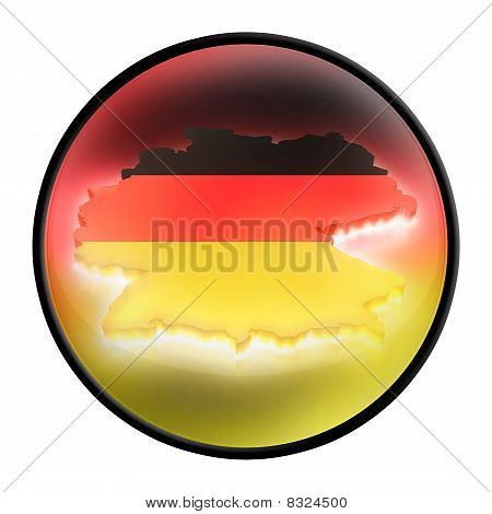 Germany (deutschland) sign (symbol) with light
