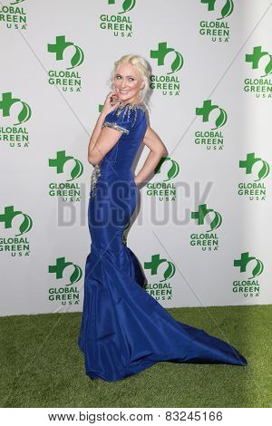 LOS ANGELES - FEB 18:  Dominica Juliet at the Global Green USA's 12th Annual Pre-Oscar Party at a Avalon on February 18, 2015 in Los Angeles, CA
