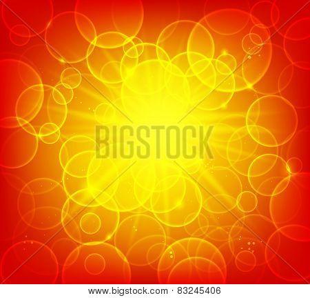 Bright Warm Boke Background