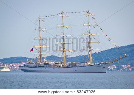 The Sail Ship Nadezhda Of Russian Federation