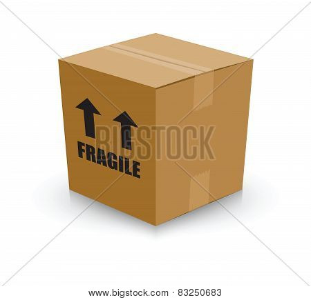 fragile card board box