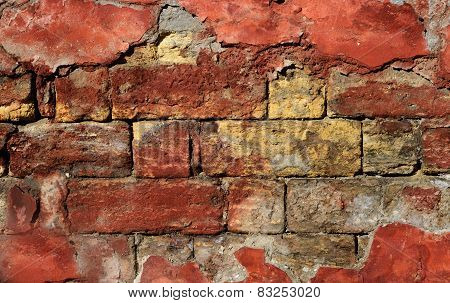 Dramatic Old Brick Wall - Creative Background Fo Your Grunge Design