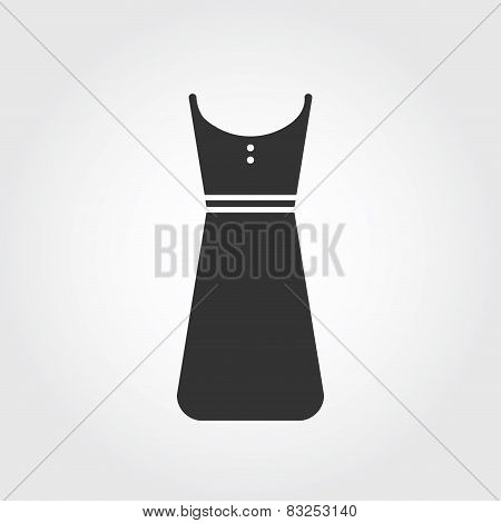 dress icon, flat design