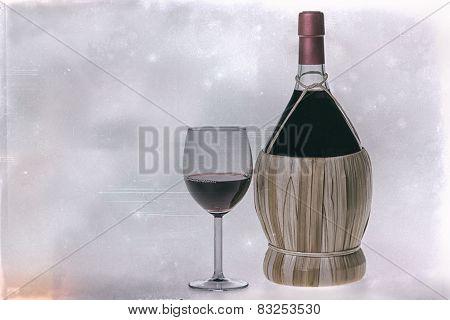 Old Bottle Of Chianti Wine