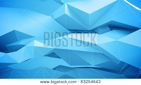 Abstract Geometric Shapes. Blue.