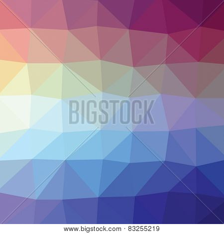 Geometric abstract blue and violet low-poly paper background. Vector eps-10 with transparency.